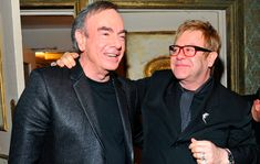Elton John paid tribute to Neil Diamond during a press conference announcing his last ever tour, the 'Farewell Yellow Brick Road Tour'. I'm A Believer, Diamond Picture, I Love Him, My Love, Neil Diamond, Stars Then And Now, I Said, Along The Way, Superstar