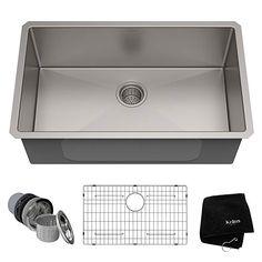 Kraus KHU100-30 Kitchen Sink 30 Inch Stainless Steel - - Amazon.com