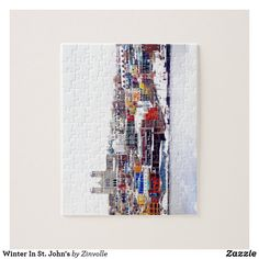 Winter In St. John's Jigsaw Puzzle Newfoundland And Labrador, Newfoundland Canada, Make Your Own Puzzle, Custom Gift Boxes, Winter Colors, St John's, Jelly Beans, Dog Design, Funny Cute