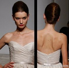 mom back - Wedding Hairstyles: Classic Updos From Runway