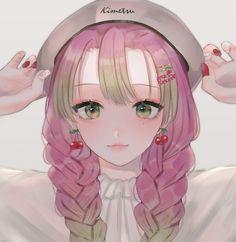 kimetsu no yaiba Demon Slayer, Slayer Anime, Anime Girl Pink, Anime Art Girl, Anime Demon, Manga Anime, Original Anime, Wallpaper Memes, Tamako Love Story