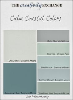 coastal paint colors - soothing tones