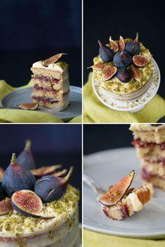 Fig Pistachio Cake with Orange Cream Frosting   Hungry Rabbit