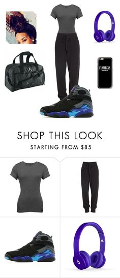 """""""Goin to the gym"""" by ballislife ❤ liked on Polyvore featuring Orobos, Donna Karan, Jordan Brand, GHETTO FAB and Casetify"""