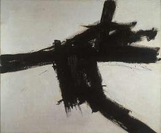 Buttress, 1956 by Franz Kline. Action painting. abstract