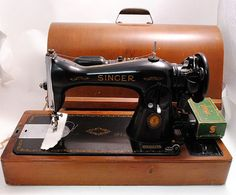 Singer Sewing Machine 1950s Centennial Edition by SarahAnntiques, $350.00