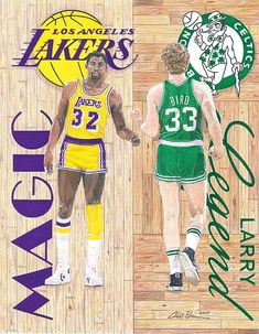 Magic Johnson and Larry Bird Fleece Blanket x by Chris Brown. Our luxuriously soft throw blankets are available in two different sizes and feature incredible artwork on the top surface. Basketball Legends, Basketball Players, Nba Players, Celtics Basketball, Basketball Shirts, Sports Basketball, College Basketball, Hockey, Larry Bird Quotes
