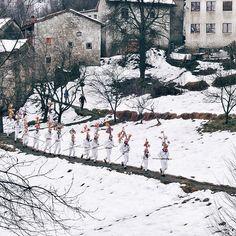 """""""Risvegliare la terra dopo il lungo sonno invernale. Questo è il Carnevale nelle sue radici arcaiche. E questo, anche se la memoria della storia scrive nuove pagine, è quello che ogni anno succede a Montefosca, quando i Blumarji corrono.""""  Photo and caption by Giorgia Carlig"""