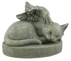 Sympathy Cat - Cat Angel Pet Memorial Stone   This would be sweet memorial for my Felix.  6/28/98 - 6/13/13