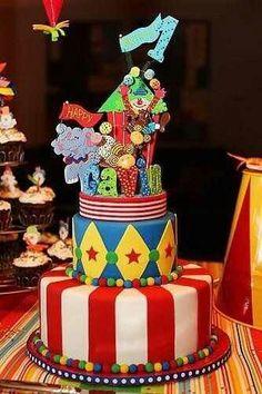 Carnival tier cake