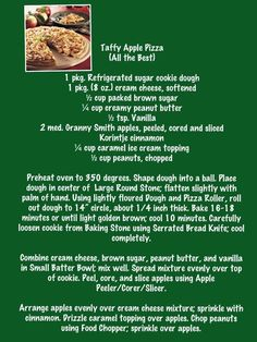 Taffy apple pizza...one of my favorites!