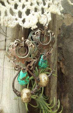 Bohemian Opulence III - artjewelry earrings