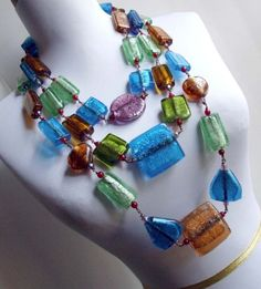 CLEARANCE SALE  Statement Multistrand Necklace with by AncaNY, $69.00