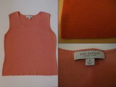 "Ann Taylor *SILK BLEND* coral sweater knit, scoop neck, sleeveless tank Size: M $16.00 - Find it by going to www.LoyalRoyaltyPro.com, click on the ""Miss Anthropy's Boutique"" link on the left sidebar and click on one of the hyperlinks that say ""Miss Anthropy's Boutique"" to be taken to all of my eBay auctions including the one below! Don't forget to check out the other content on www.LoyalRoyaltyPro.com as well!"