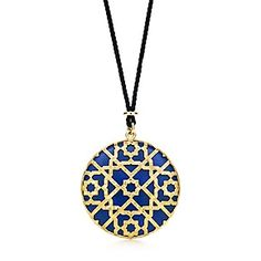 Paloma's Marrakesh dome pendant in 18k gold with lapis lazuli.