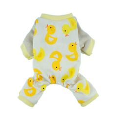 Cute Duck Dog Pajamas Dog Clothes Dog Jumpsuit Pet Cat Pjs, Medium - http://www.thepuppy.org/cute-duck-dog-pajamas-dog-clothes-dog-jumpsuit-pet-cat-pjs-medium/