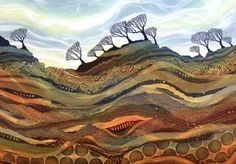 Wind Rocked by Rebecca Vincent, Horsley Printmakers - monoprint