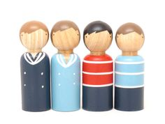 A Boatload of Sailors // Easter Spring Boys Little Wooden People by goosegrease, $36.00