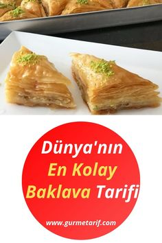 The World& Easiest Baklava Recipe - Made with Roller - Tatlı Tarifleri - My Recipes, Sweet Recipes, Dinner Recipes, Dessert Recipes, Quinoa Burger, High Protein Snacks, Sliced Almonds, Arabic Food, Roasted Turkey