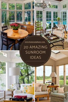 It doesn't get much better than a sunroom. Here are 20 stunning design ideas for your sun room! Home Studio Setup, Home Bar Designs, Blue Color Schemes, Family Room Design, Window Design, Other Rooms, Bars For Home, Sunroom, Home Decor Inspiration