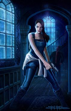 Resident Evil back to mansion by Amirulhafiz.