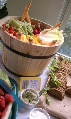 Peter Rabbit's Garden Crudite and Dips plus other ideas for a book themed party.