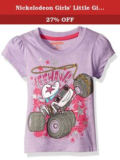 Nickelodeon Girls' Little Girls' Blaze Short Sleeve T-Shirt Shirt, Pink, 2T. Join in on the craze with this adorable blaze and the monster machines tee shirt.