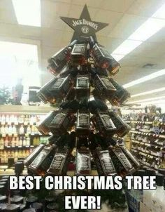And on the first day of Christmas my true love gave to me,a Jack Daniels Christmas tree !