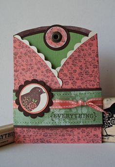 Splitcoaststampers - Trifold Pocket Card Project Tutorial by Beate Johns