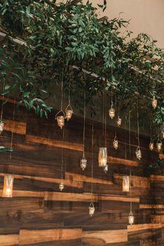 Hanging candles on greenery - The Wedding Story of Billy and Amanda Khorshid | WeddingDay Magazine