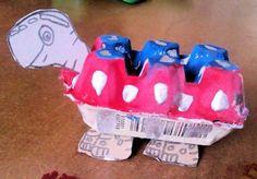 Egg Carton Tortoise Craft