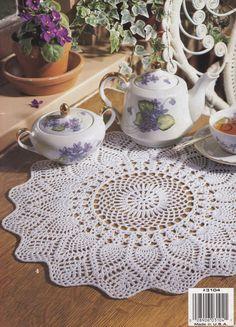 Tea Time Doilies Leisure Arts Crochet Pattern by LucyGooseyDolls