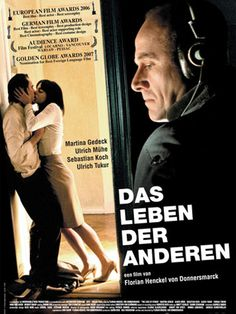 Das Leben Der Anderen  The Lives of Others    Excellent German film about life in the former DDR