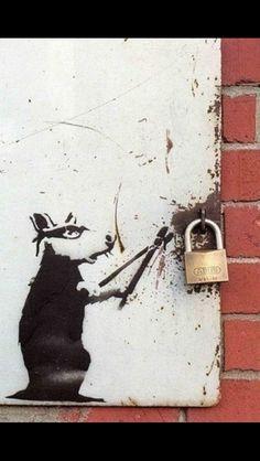 Banksy, Rat and Padlock