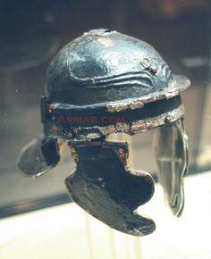 Roman Imperial Gallic F helmet of a legionary. The Besancon helmet from France. 1st century CE.