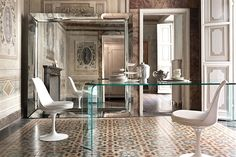 Fiam Caadre Mirrors are romantically classical, yet modern.