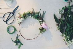 great floral crown diy instructions