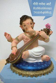 Ganesh Chaturthi Decoration, Ganesh Chaturthi Images, Happy Ganesh Chaturthi, Shri Ganesh Images, Ganesha Pictures, Clay Ganesha, Ganesha Art, Lord Ganesha Paintings, Lord Shiva Painting