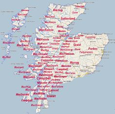 Highland Roots Research - The Highland Clans- Any clan map is bound to be misleading because lands changed hands in the course of Highland history - so MacKenzies expelled MacLeods from Lewis, Camerons took over MacMillan lands in Lochaber, and Campbells displaced MacDonalds on Islay and elsewhere in Argyll.. etc.