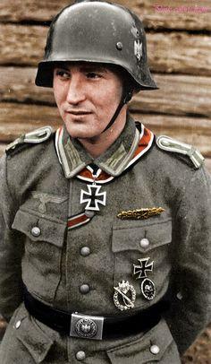 """ostfeldzug: """"Leutnant Karl Radermacher """"""""Karl Radermacher (born 12 December 1922) was a Leutnant in the Heer during World War II. He was also a recipient of the Knight's Cross of the Iron Cross. The Knight's Cross of the Iron Cross was awarded to...pin by Paolo Marzioli"""