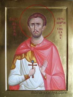st. Alban of Englad by hands of DAineko www.ikona-skiniya.com