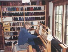 Hilda de Weever and de Weever's Wovens. I have visited her in her studio in Aylesford Nova scotia in the Annapolis Valley. The studio space is lovely. Hilda de Weever in her Aylesford weaving studio