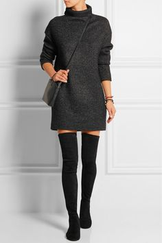 We love these ISABEL MARANT Brenna suede over-the-knee boots £585 - pair with jumper dresses, mini skirts or over skinny jeans - perfect for chillier weather #OTKtrend...x