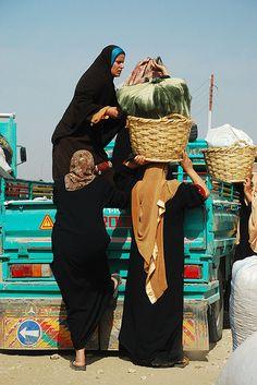 Loading the pickup truck .Egypt