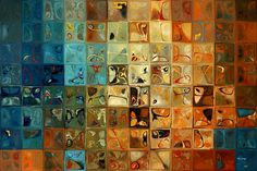 Traditional Fine Art Giclee   Tile Art #11, 2009   Modern Art. What beautiful abstract tiles.