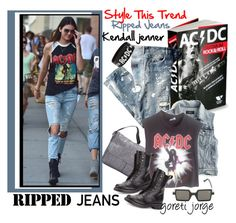 """""""Style This Trend: Ripped Jeans"""" by goreti ❤ liked on Polyvore featuring Dolce&Gabbana, J.Crew, LeSportsac, Vintage, rag & bone, VaVa and rippedjeans"""