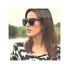 Flat Top Boyfriend Sunglasses : Tbdress.com ($7.29) ❤ liked on Polyvore