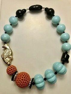 NEU Spektakuläre Halskette ANGELA CAPUTI | eBay