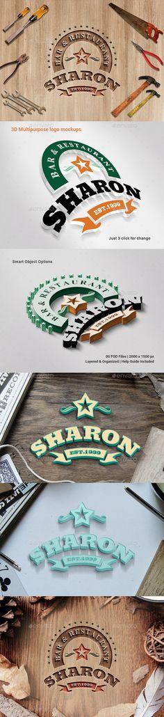 3D Multipurpose Logo Mockups #logomockup Download: http://graphicriver.net/item/3d-multipurpose-logo-mockups/11718846?ref=ksioks
