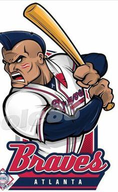 Brave Wallpaper, Atlanta Braves Logo, Mlb, Baseball Art, Sports Basketball, Sports Logos, Major League, Drawing Art, Fifa